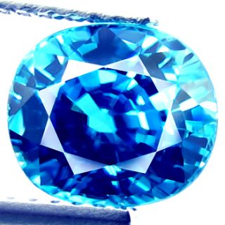 75ct RARE Dazzling Natural Earth Mined Blue Zircon Flawless