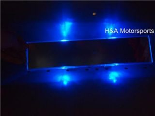 Rear View Mirror Blue LEDs Rhino Golf Cart Yamaha UTV Club Car Buggy