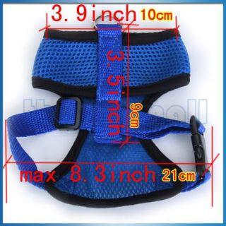 superstore dog pet soft mesh safety harness vest clothes m blue