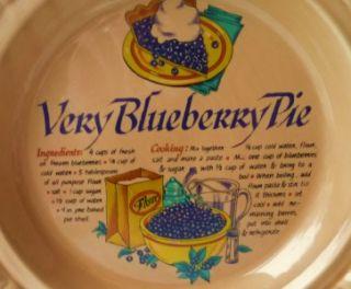 ceramic very blueberry pie plate universal trumps euc