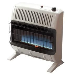 30K Vent Free Blue Flame Nat Gas NG Wall Space Heater