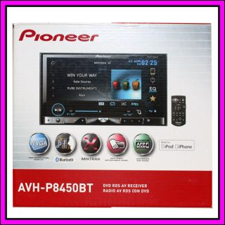 Pioneer AVH P8450BT 7 Bluetooth DVD CD iPod iPhone Car Player