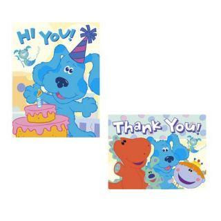 BLUES CLUES INVITATIONS & THANK YOU CARD ~ Party Supplies