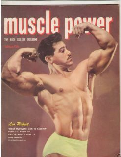 Vintage Muscle Power Bodybuilding Fitness Magazine Leo Robert 2 51