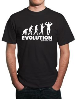 Evolution of Bodybuilding Funny T Shirt All Sizes