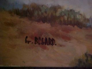 original bogard native american indian oil painting
