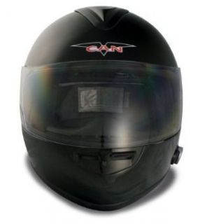 Bluetooth Full Face Motorcycle Helmet Black 2 Speaker L