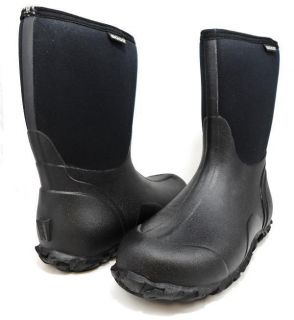 BOGS CLASSIC MID 61142 Waterproof Rain Snow Boots Pull On Mens Shoes