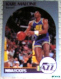 Karl Malone Card 292 Utah Jazz NBA HOOPS 1990 VGC