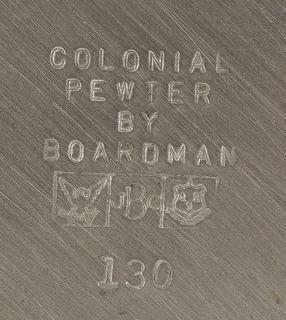 pc. Vintage Boardman Colonial Pewter Tea/Coffee Set w/Creamer/Sugar