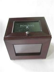 Bombay Company Mahogany Wood Photo Picture Storage Albums Box Chest