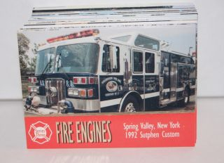 FIRE ENGINES SERIES 3 (Bon Air/1995) Complete Trading Card Set TRUCKS