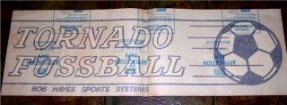 RARE 1971 Tornado Foosball Decal Bob Hayes Sports Systems Fussball
