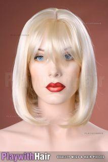 Classic Elegant Bob Wig Vanilla Platinum Blonde