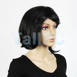 New Short Ear Bob Black Hair Straight Bob Wig Wigs Wig Hair for Party