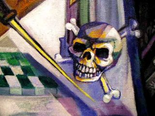 jachin and boaz mortality represented by the skull and crossbones