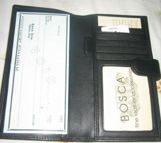 Original Genuine Leather Womens Black Bosca Wallet