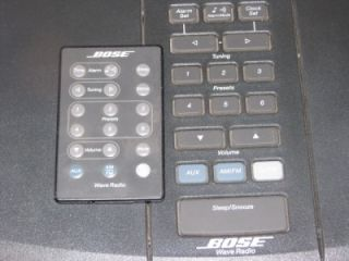 The Bose Wave Radio W/Remote Model Number AWR1G1 W/Manual NR