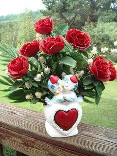 Vintage Bluebird Vase Planter Blue Bird Relpo Valentine