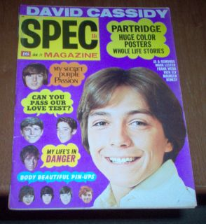 Magazine 1971 David Cassidy Michael Jackson 5 Bobby Sherman Osmonds
