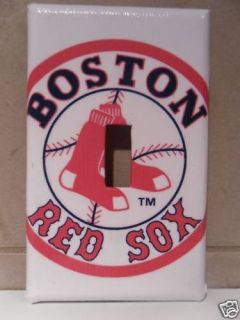 Boston Red Sox Single Light Switch Cover Jersey Cards