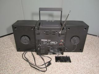 Aiwa Portable Stereo System Boombox CA DW470 Am FM CD Cassette Player