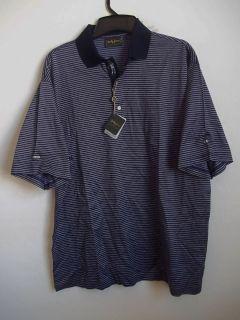BOBBY JONES COLLECTION sz L Short Sleeve 100% Cotton Golf Polo Shirt