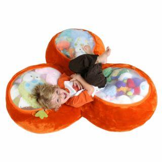 Boon Animal Bag Trio Trio Toy Chest Plush Storage Orange Bag Chair
