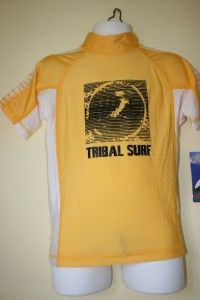 Tribalsurf Boys Rash Guard Surf Shirt SPF 50 Rgcap Ylw