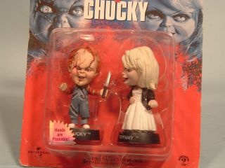 BRIDE OF CHUCKY DOLLS POSEABLE CHUCKY TIFFANY LITTLE BIG HEADS