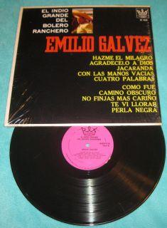 Emilio Galvez El Indio Grande Del Bolero Ranchero LP