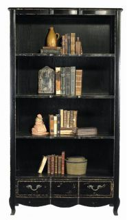 New Bookcase Reproduction Black Weathered Black American Oak Open