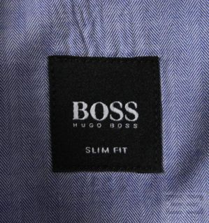 Boss Hugo Boss White Blue Striped Button Down Shirt Set Sz 17 5 34 35