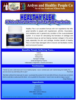 Flex Arthritis Joint Back Pain Hypertension Glucosamine Healthy People