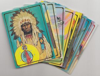 bon air native americans complete set of 90 cards