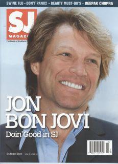 Jon Bon Jovi RARE SJ Magazine Mint October 2009