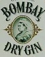 Bombay Dry Gin High Ball Glasses Pair 2 Collectible