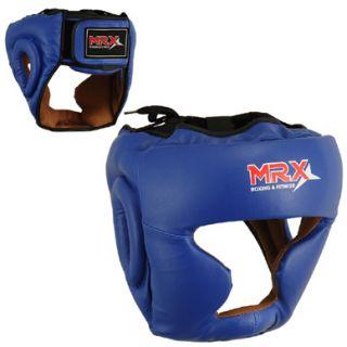 Boxing Head Guard Kick Boxing Protection Headgear Blue