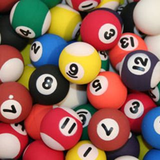 Billiard Pool Style Rubber Bouncy Balls Fun Gift Party Favors