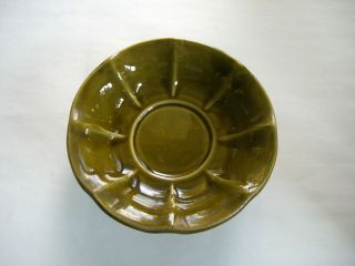 Vintage McCoy Green Pottery Bowl