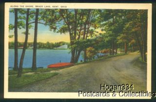 Along The Shore Brady Lake Kent Ohio Postcard