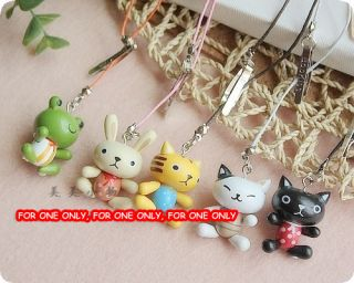 One Wooden Animal Bookmark Toy Kid Party Favor Supply Bag Cat Frog