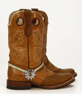 AB Rhinestone Spur Rowel Boot Jewelry by Hill Country Girls