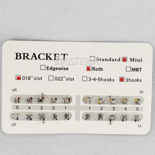 Pack Dental Ortho Orthodontics Bracket braces (20Pcs/pack) MINI Roth