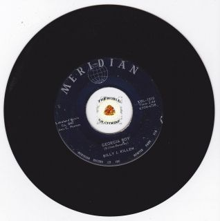 HEAR Rockabilly Bopper 45 BILLY J. KILLEN Georgia Boy MERIDIAN 1510