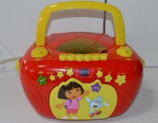Dora The Explorer Boombox Radio CD Player CASSETTE Radio Nickelodeon