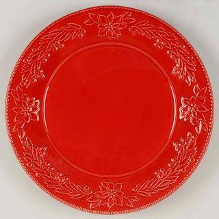 Bordallo Pinheiro Poinsettia Chop Plate Round Platter