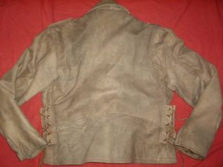 Antelope Creek Leather Taupe Brown Motorcycle Leather Jacket Coat Size