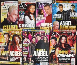 Lot of 7 ANGEL Magazines ALL MINT DAVID BOREANAZ