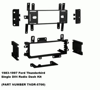 1983 1997 Ford Thunderbird SINGLE DIN Radio Dash Install Kit